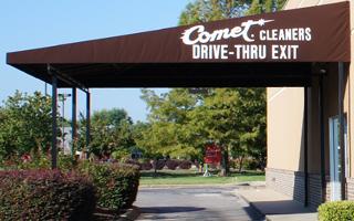 Convenient drive thru service.
